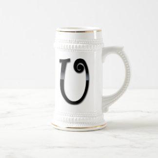 Black Gloss Monogram - U Mug