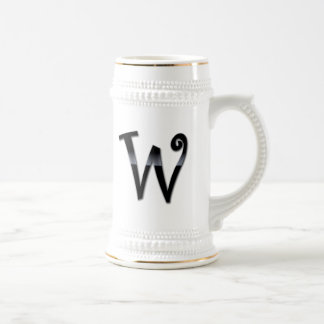 Black Gloss Monogram - W Coffee Mug