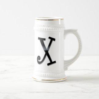 Black Gloss Monogram - X Coffee Mug