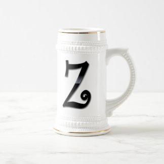 Black Gloss Monogram - Z Coffee Mug