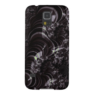 Black Glossy Fractal Art Case For Galaxy S5
