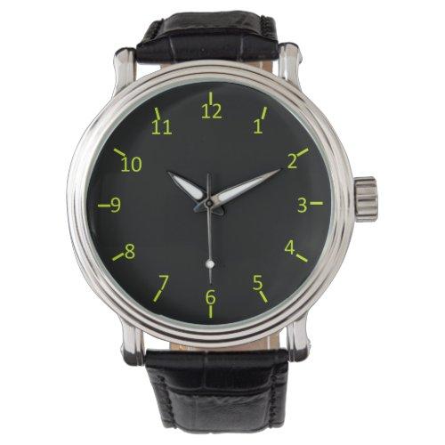 Black Glow Watch