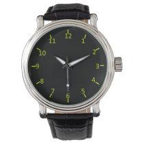 Black Glow Wrist Watches