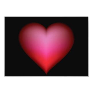 BLACK GLOWING RED HEART SHAPE LOVE GRAPHICS CARD