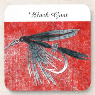 """""""Black Gnat"""" Trout Wet Fly Coaster"""