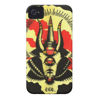 Black Goat Phone Number of the Beast Case-Mate iPhone 4 Cases