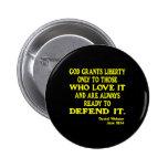 Black God Grants Liberty Pins