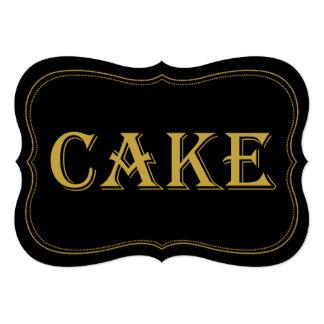Black & Gold 1920's Gatsby Wedding Cake Sign Card