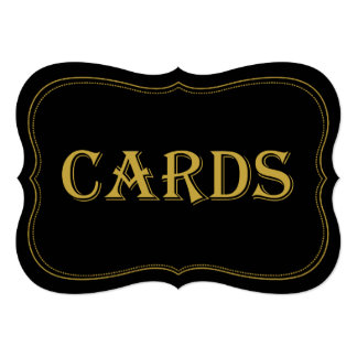 Black & Gold 1920's Gatsby Wedding Cards Sign