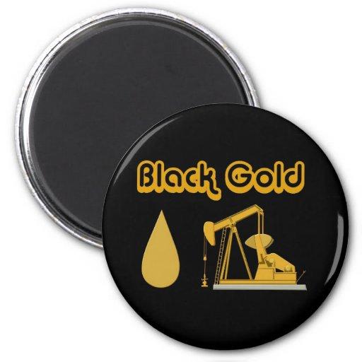 Black Gold 2 Inch Round Magnet