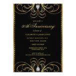 Black & Gold 50th Wedding Anniversary Invite