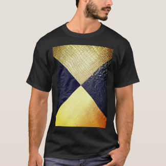 Black & Gold Alligator Skin T-Shirt