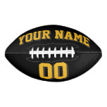 BLACK GOLD AND CHARCOAL GRAY Custom Football