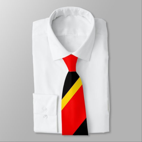 Black Gold and Red Broad Regimental Stripe Tie