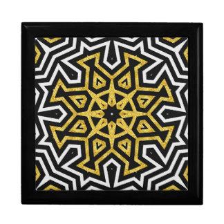 Black Gold Aztec Sun Love Goblets Mandala Gift Box