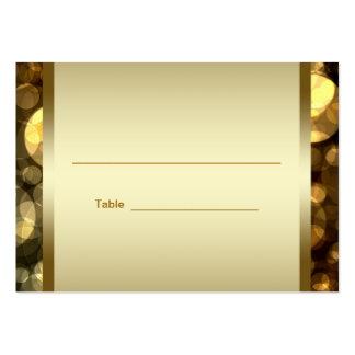 Black Gold Bar Bat Mitzvah Reception Table Cards Large Business Card