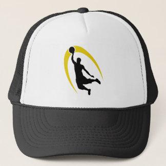 Black Gold Basketball Trucker Hat