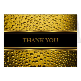 Black & Gold Beer Thank You Card
