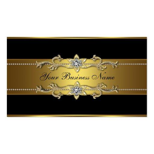 Black Gold Black Business Cards Pack Standard Business