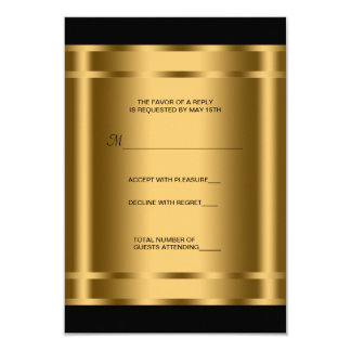 Black Gold Black Corporate Party RSVP Personalized Invitations