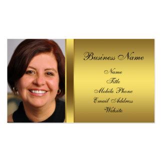 Black Gold Black Photo Business Card