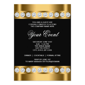 Black Gold Black Tie Corporate Party Template
