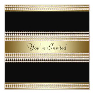 Black Gold Black Tie Party Corporate Party Card
