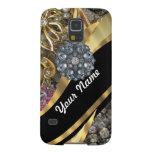 Black & gold bling galaxy nexus covers