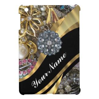 Black & gold bling iPad mini cases
