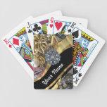 Black & gold bling playing cards