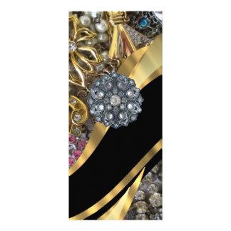Black & gold bling rack card