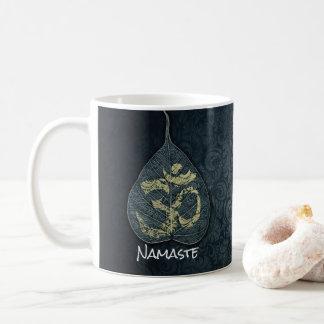 Black & Gold Bodhi Leaf OM Symbol YOGA Instructor Coffee Mug