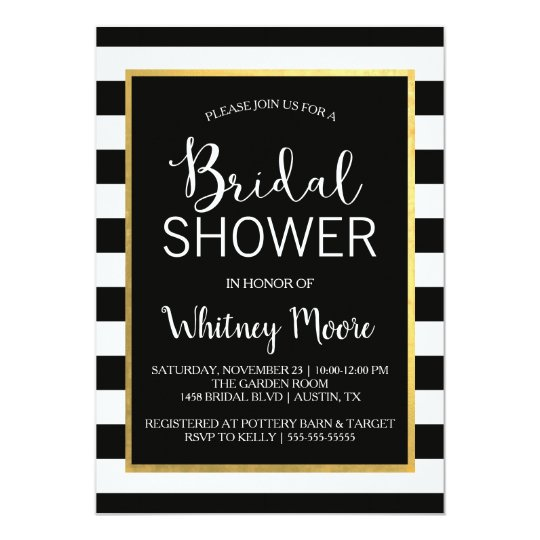 Black gold bridal shower invitation zazzle black gold bridal shower invitation filmwisefo