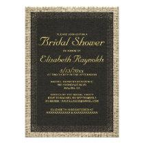 Black & Gold Burlap Bridal Shower Invitations Invites