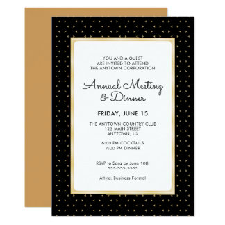 Black & Gold Business Professional Annual Dinner Card