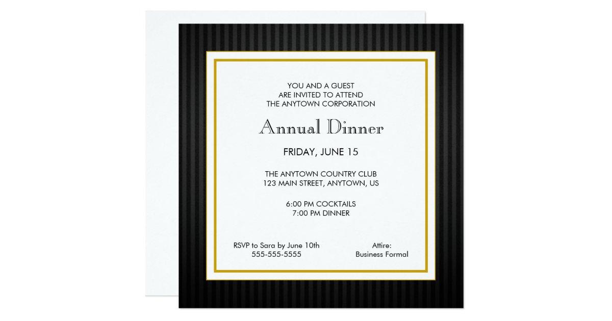Business Dinner Invitations Announcements – Business Dinner Invitation Sample