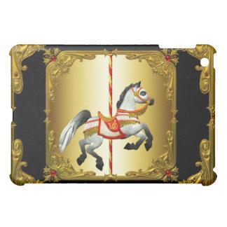 black gold carousel iPad mini covers