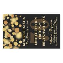 Black Gold Champagne Bubbles Birthday Label 750ml