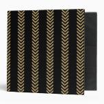 Black Gold Chevron Arrows Binder