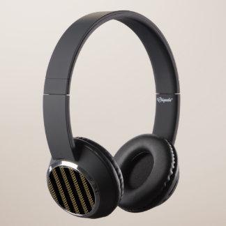 Black Gold Chevron Arrows Headphones