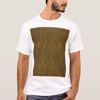 Black Gold Chevron Glitter Photo Print T-Shirt