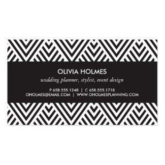 Black and gold chevron business card colourmoves
