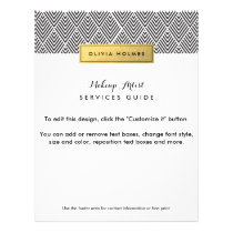 Black & Gold Chevron Pattern Flyer