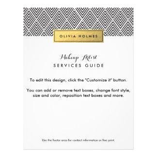 Black & Gold Chevron Pattern Flyer