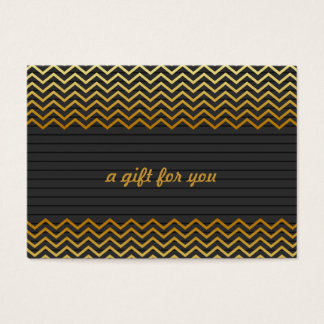 Black Gold Chevron Salon and Spa Gift Certificate
