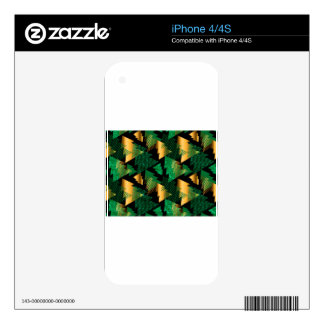 black gold christmas trees decals for iPhone 4