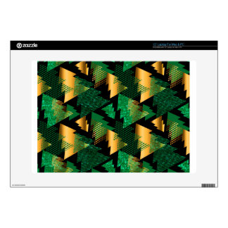 black gold christmas trees laptop decal