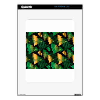 black gold christmas trees skin for the iPad