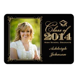 Black, Gold Class of 2014 Photo Grad Invite 2