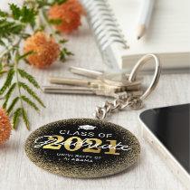 Black Gold Class of 2021 Graduation Keychain